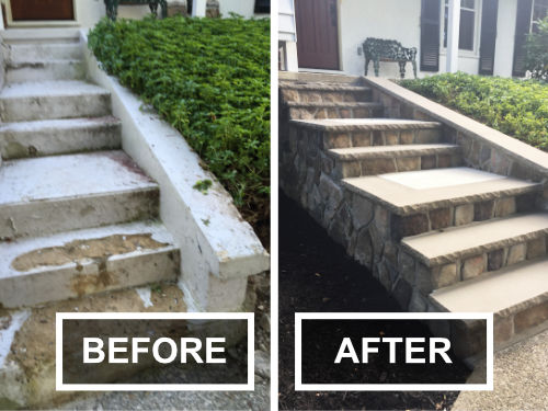 Before and After Cement Stairs