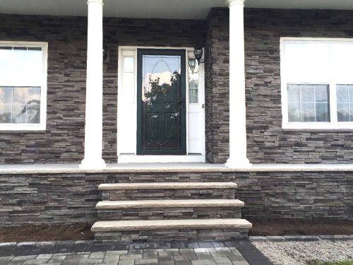 house front stone