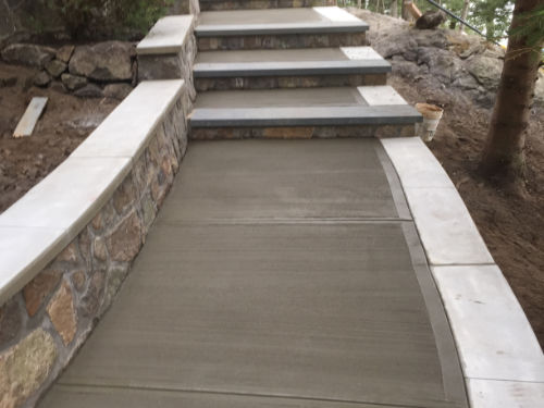 patio walkway concrete