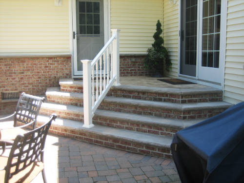 porches steps brick
