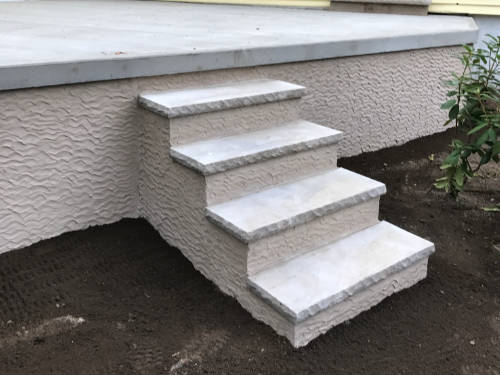 porches steps textured concrete
