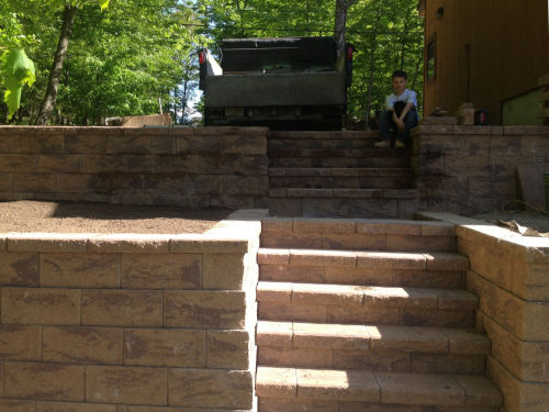 porches steps block